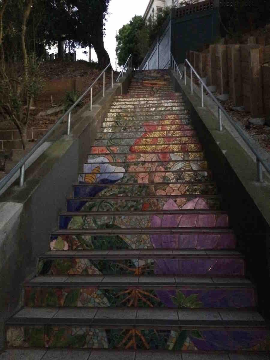 Mosaiktreppen und einmaliger Aussichtspunkt